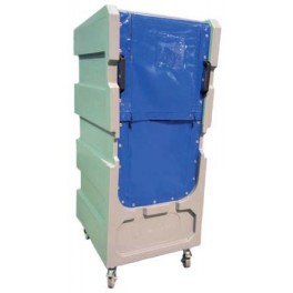 """5ft 6"""" Distribution Trolley (50/50 Zip Curtain Opening with Solid Top)"""