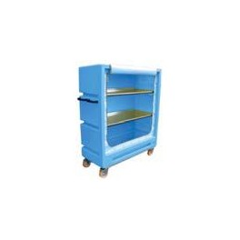 """4ft 11"""" Distribution Trolley (Curtain Model with 2 Aliminium Shelves)"""