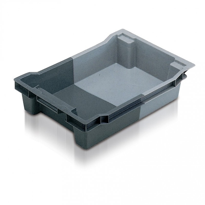 Euro stack and nest container solid 18 litre small for Surface container