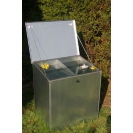 Weather Proof Double Compartment Feed Bin