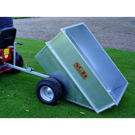 Large Capacity Galvanised Tipping Dump Trailer - Wide Profile Wheels SCH GT/GALV