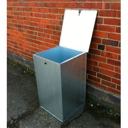 Flat Pack Galvanised Small Bin - 1 compartment