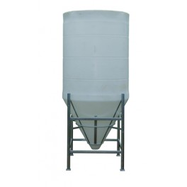 3650 Litre 60 Degree Open Top Cone Tank No Frame