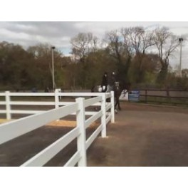 Pack of 2 Vinyl Equine Fencing 2 rails, 8ft wide x 3ft high