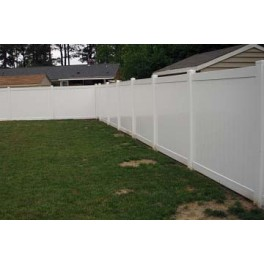 Pack of 6 White Privacy Fence TG - 8ft Wide and 6ft High