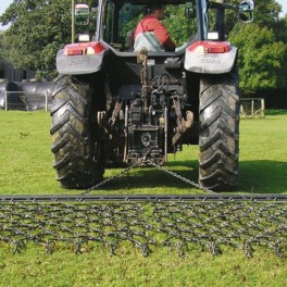 8ft - 3 Way Chain Harrow trailed