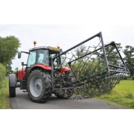 14ft - 3 Way Mounted Harrow, Folding Wings - Double Depth