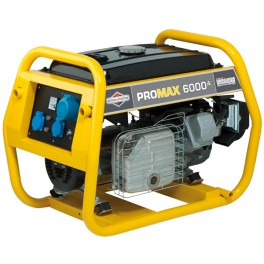 6000A Professional Portable Generator with E-Start - B&S ProMax