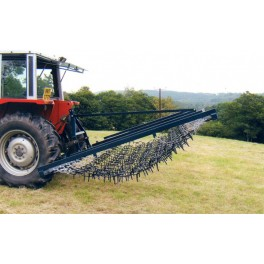 14ft Mounted Flexible Chain And Spike Harrow