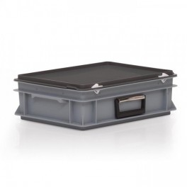 Stacking Box c/w Hinged Lid and Handle