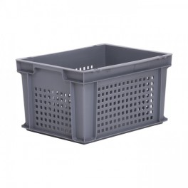 Stacking Container 19.8L - Perforated Sides with Hand Grips