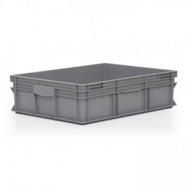 Stacking Container 90L - Solid with Shell Handles