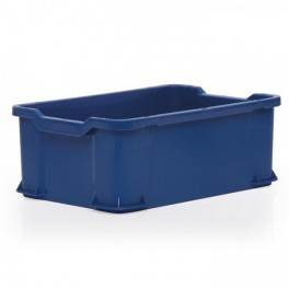 Stacking Container 40L - Solid with Shell Handles