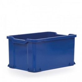 Stacking Container 54L - Solid with Shell Handles