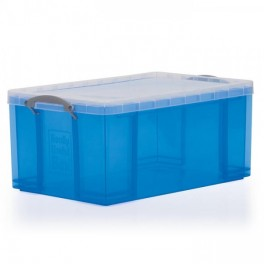 Stacking Container 64L - Solid with Locking Lid Handle
