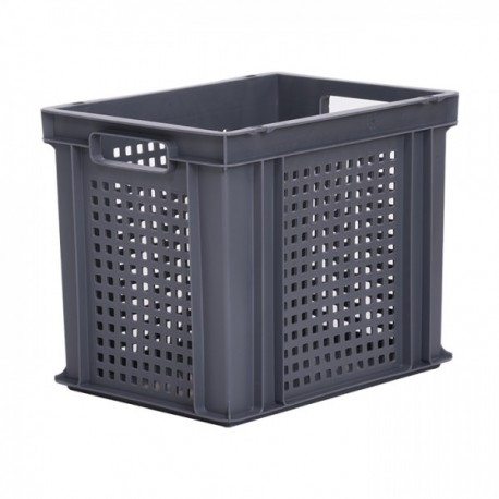 Stacking Container 30.2L - Perforated Sides with Hand Holes