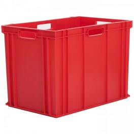 Stacking Container 84.5L - Solid with Hand Holes