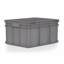 Stacking Container 175L - Solid with Shell Handles