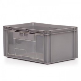 Order Picking Container 56L - Pull Down Clear Side Panel