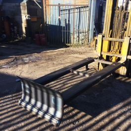 Waste Pusher / Extended Snow Blade for Fork Lift Truck