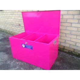 3 Compartment Baby Horse Feed Storage SMALL Bin Mobile - Standard wheels