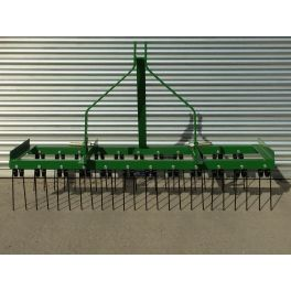 8ft Wide Spring Tine Harrow (2 Rows)