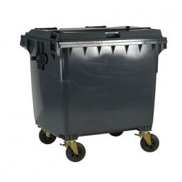 4 Wheeled Bin with Non-Lockable Lid - 1100L