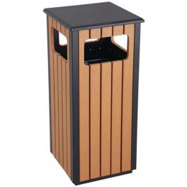 36L Wood Effect Waste Bin