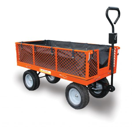 Utility Cart , Large Garden Trolley with Free Liner \u0026 Puncture Proof Tyres)