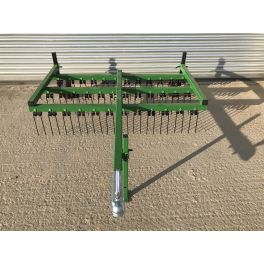 Trailed 6ft Wide 3 Row ATV Spring Tine Harrow