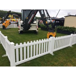 "6ft wide x 32"" high Temporary Picket Fence (Assembled)"