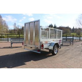"""Kirby Trailers 750kg Caged & Ramped Heavy Duty Galvanised Box Utility Trailer 7x4"""""""