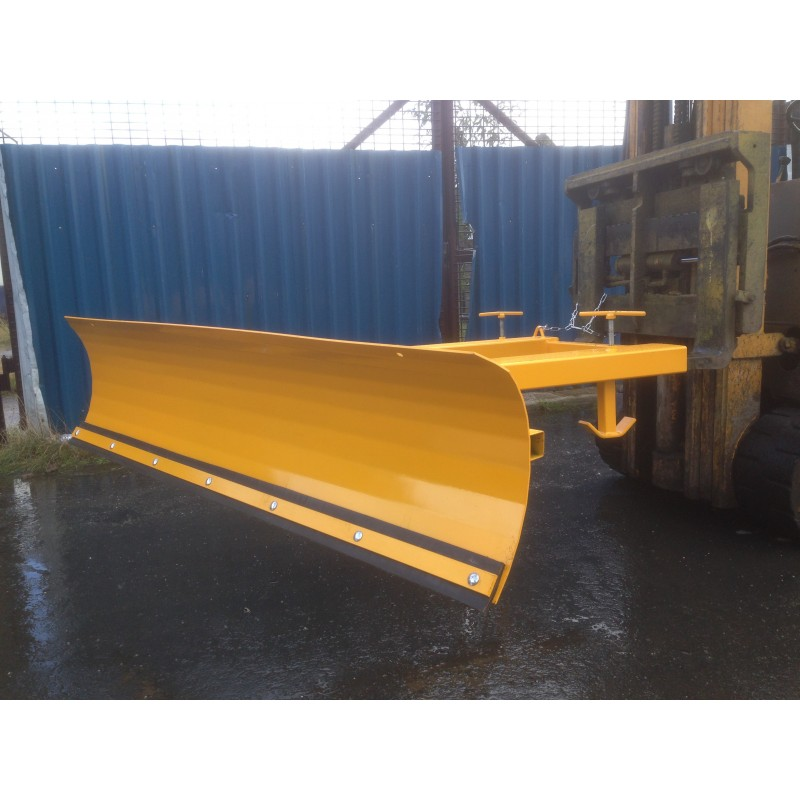 Used Forklift Snow Blades : Fixed or adjustable m forklift snow plough