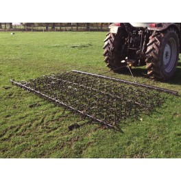 10ft Chain & Spike Trailed Harrow with Folding Wings