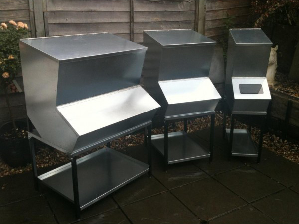 Galvanised Hopper Feed Bins