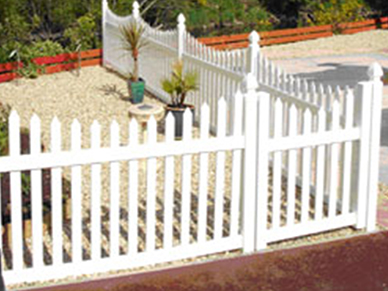 Vinyl Straight Picket Fencing