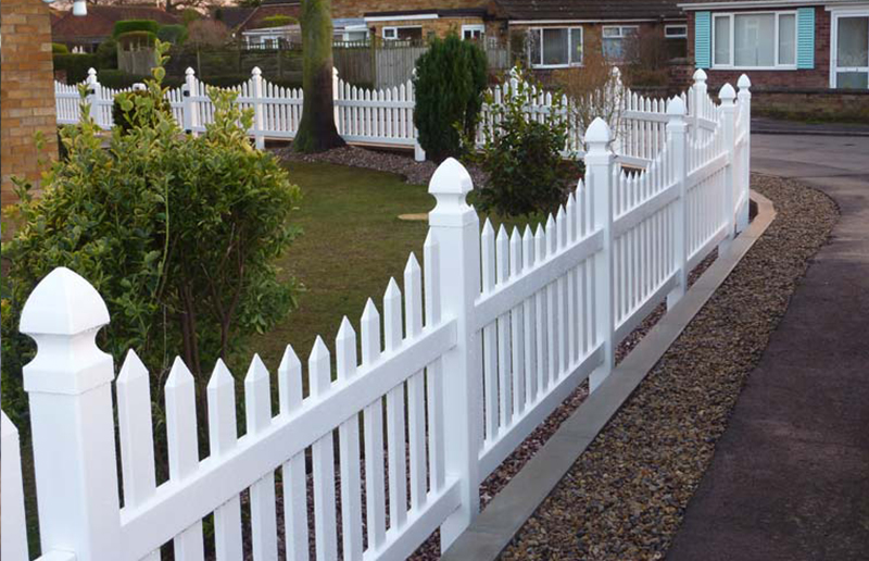 Vinyl Scalloped Picket Fencing